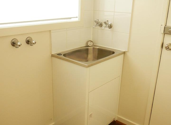 New laundry tub, tapware and tiles