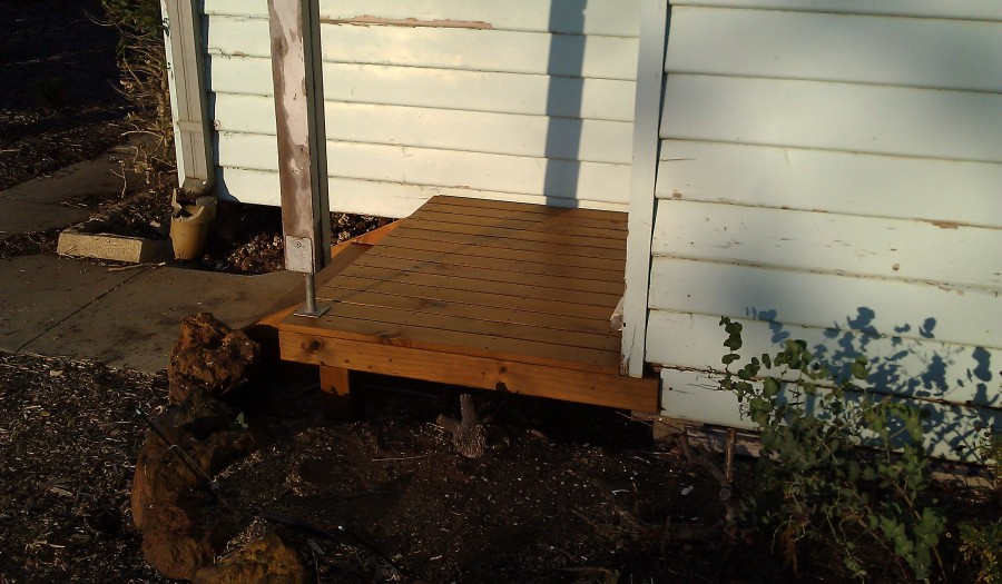 The finished deck now structurally sound
