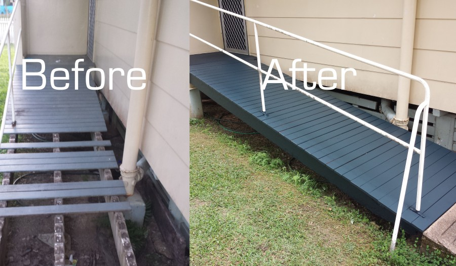 The Ramp Before and After
