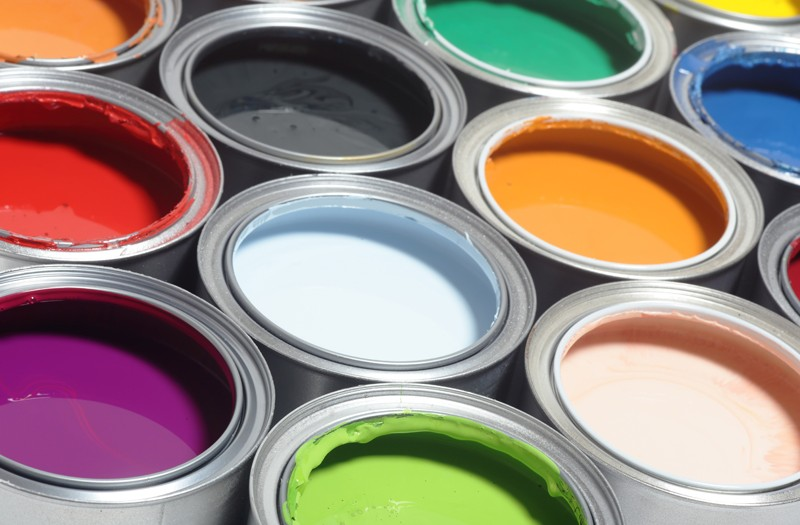 Assorted Colour Paint Tins