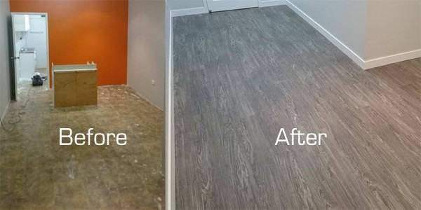 Office Floor Before & After