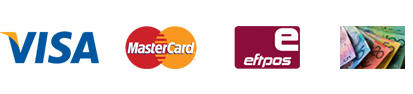 We accept credit card and eftpos payments
