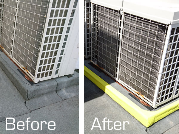 Before after of commercial paint job