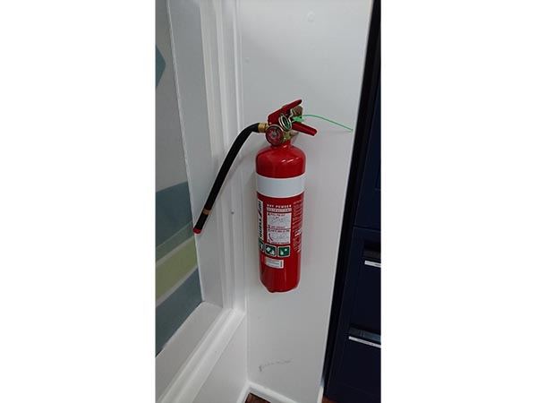 Hanging of a Fire extinguisher