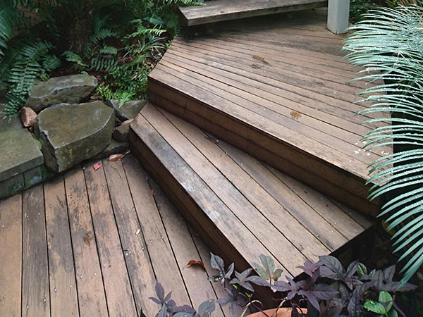 The old weathered deck